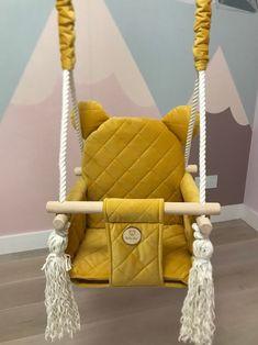 Furniture Sofa Set, Furniture Making, Kids Swing, Child Swing, Dremel, Pet Hammock, Wood Swing, Baby Yellow, Kids Pillows