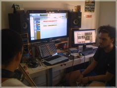 Facu and our producer Fercho working