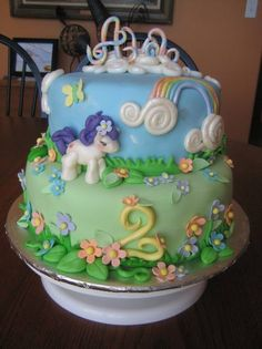 Children / Kids Birthday Party / Cake - A My Little Pony Cake from brookiescookies.biz