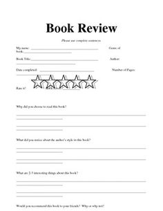 Book reviews for kids!