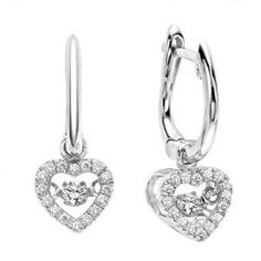 Diamond Heart Rhythm Of Love Earrings In Gold