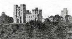 Mitchelstown Castle - main entrance front - showing the White Knights Tower