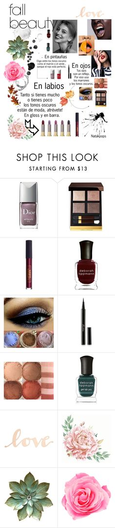 """Fall beauty"" by natakpops21 on Polyvore featuring Belleza, De Lacy, Couture Colour, Christian Dior, Tom Ford, Lipstick Queen, Deborah Lippmann, Guerlain, Urban Decay y Primitives By Kathy"