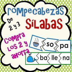 Este producto contiene los rompecabezas de 2 y 3 slabas.Los rompecabezas son una forma divertida para que los estudiantes practiquen las slabas. Los estudiantes empiezan con la imagen, dicen el nombre y lo separan en silabas, luego busca las slabas correspondientes para formar la palabra.