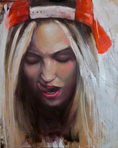 "Saatchi Art Artist Pascale Taurua; Painting, ""Funny face"" #art"