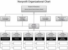 Nonprofit organizational Chart
