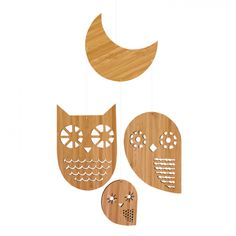 owl family mobile by petit collage