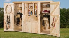 Saddle Cabinets For Safe Storage Add the necessities to your Eberly Barn with our elite line of Amish Crafted Storage Bins and Saddle Cabinets. Our equestrian furniture has that perfect rustic look read article.