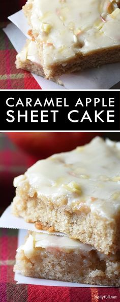 This Caramel Apple Sheet Cake is moist and buttery, with cinnamon and apples throughout. Plus a silky icing infused wth caramel flavor that is to die for! Easy Homemade Recipes, Best Soup Recipes, Homemade Soup, Copycat Recipes, Great Recipes, Cake Recipes, Vegetarian Recipes, Easter Food, Easter Recipes