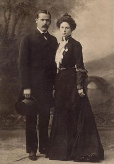 Etta Place (Robert LeRoy Parker) with the Sundance Kid (Harry Alonzo Longabaugh). Her life is shrouded in mystery. Was she a schoolteacher who left her quiet life for the drama of the outlaw life? Evidence indicates that she was born in 1878 and became a prostitute at Fanny Porter's bordello in San Antonio, Texas. When the Wild Bunch came through, Place went with them to rob banks. She wasn't with the boys when they were killed in South America in 1909. Some believe she became a cattle rustler.