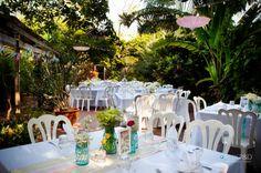 Key West Garden Club Carnival Themed Wedding Soiree