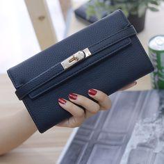 Hochwertige Damen Brieftasche Frauen Luxusmarke Qualität Pu Leder Lange Brieftasche Abendgesellschaft Handtasche Kartenhalter geld Tasche //Price: $US $15.98 & FREE Shipping //     #dazzup