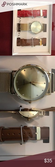 Ann Taylor Factory Outlet watch Watch with 2 extra bands 🚫trades Ann Taylor Accessories Watches