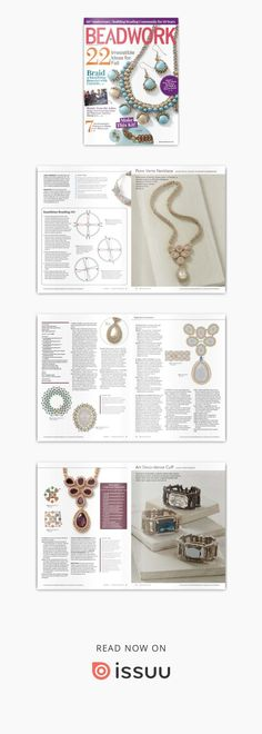 beadwork october november 2017 Jewelry Patterns, Beading Patterns, Beaded Jewelry, Beading Tutorials, Make It Simple, Cool Style, Projects To Try, November, Pearls