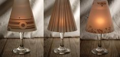 Wine Glass Candlelight Lamp Shades (4 shades ) Retro Design where to buy