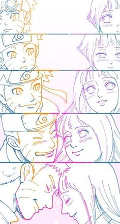 Naruto e Hinata (NaruHina) Naruto Shippuden Sasuke, Anime Naruto, Naruto Comic, Naruto Cute, Sasuke Sakura, Naruto And Sasuke, Otaku Anime, Anime Ninja, Naruto Gaiden