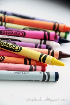 Lots of  DIY crayon techniques
