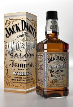 Jack Daniel's Anniversary of the 'White Rabbit Saloon' - Tennessee Sour Mash Whiskey Bourbon Whiskey, Whiskey Girl, Cigars And Whiskey, Tennessee Whiskey, Scotch Whiskey, Whiskey Bottle, Cocktail Drinks, Fun Drinks, Alcoholic Drinks