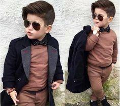 Kids Hairstyles and kids fashion 2017 Fashion Kids, Little Boy Fashion, Baby Boy Fashion, Toddler Fashion, Toddler Outfits, Baby Boy Outfits, Fashion 2017, Outfits Niños, Kids Outfits