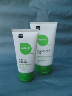 Hema Natural handcrème en gel facewash.