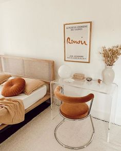 Home Decor Living Room .Home Decor Living Room Home Office Design, Design Desk, Furniture For Small Spaces, Home And Deco, Home Bedroom, Small Bedroom Office, Bedroom Table, Small Minimalist Bedroom, Small Space Bedroom