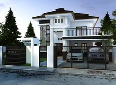 Various Home Designs for Top-Notch Construction Architects. Modern House Facades, Modern House Design, Facade House, My Dream Home, Philippines, House Plans, New Homes, Construction, Exterior