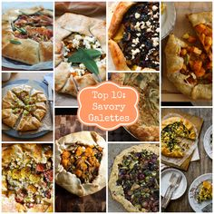 Rainbow Delicious Top 10 Savory Galette Recipes. Every single one of these look fabulous! I will be making some of these, for sure!