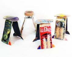 Recycled Skateboard Stool. Includes detailed assembly instructions, a skateboard truck, and all hardware required to build your stool by SkateOrDesign