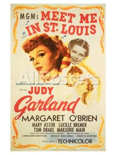 Meet Me in St. Louis ~ Starring Judy Garland and Margaret O'Brien. Today June would have been Miss Garland's birthday. There is no way I could let the day pass without pinning some of her movies. This is one of my favorite Judy Garland Movies. Judy Garland, Ronald Colman, Classic Movie Posters, Classic Movies, Vintage Movie Posters, Love Movie, I Movie, Perfect Movie, Movie List