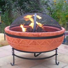 Terra Cotta Fire Pit with Cover in 2019 | Fire, Terracotta ...