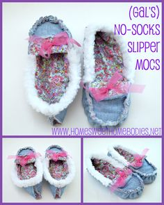 slippers. These are easy and comfy!! I might add some more padding for under feet