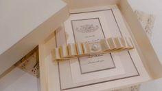Ivory handmade wedding invitations and RSVP by SweetMemoriesBridal