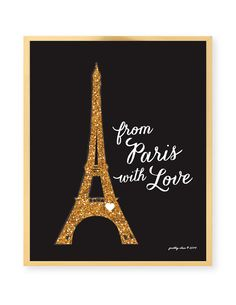From Paris With Love Art Print  Paris  Eiffel by prettychicsf, $18.00