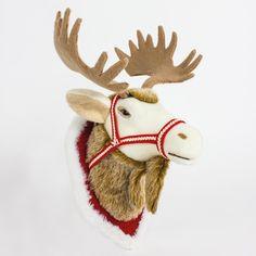 Fabric Hanging Reindeer Head