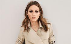 Download wallpapers Olivia Palermo, American fashion model, 4k, beautiful woman, photoshoot, beige stylish coat