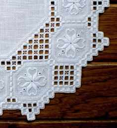 Gorgeous Hardanger Centerpiece by on Etsy Brazilian Embroidery Stitches, Types Of Embroidery, Learn Embroidery, Ribbon Embroidery, Embroidery For Beginners, Embroidery Designs, Embroidery Supplies, Embroidery Kits, Unique Centerpieces