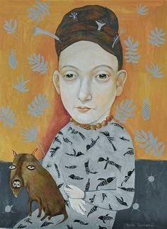 Madame Marcotte ....gouache portrait by Anita Dominoni