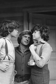 "Little House on the Prairie ""The Nephews"" Episode 14 -- Aired 1/19/81 -- Pictured: (l-r) Ham Larson as Myron Wilder, Dean Butler as Almanzo James Wilder, Rossie Harris as Rupert Wilder."