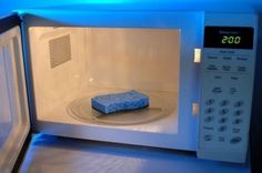 To kill the germs and viruses that have gathered on your nasty sponges, microwave on high for 2 minutes and let cool. | 37 Deep Cleaning Tips Every Obsessive Clean Freak Should Know