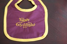 "Harry Potter Baby Embroidered ""Future Gryffindor"" Bib"