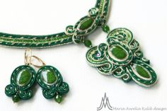 necklace and earrings - Soutache