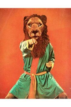 Real Men Dont LOL Lion Punch Poster