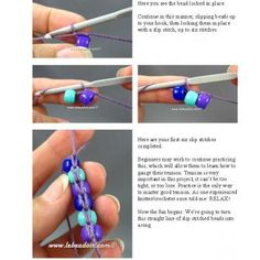 Beaded Crochet~~TIĞ İLE SPİRAL ÖRME ~~ HAPİSHANE İŞİ TEKNİĞİ | görsel 10