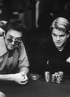 1998 Poker Movie: Rounders with Matt Damon and Edward Norton. #gambling #gamblers www.OneMorePress.com