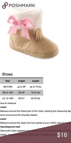 Tan Faux Fur Trim Booties Keep tiny feet warm and cozy in these adorable faux fur trim booties with bow detail. Just precious!  Perfect to get or gift! Luvable Friends Shoes Boots