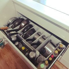These space-saving organizing hacks come from Japan and they are absolutely brilliant!In this post, you will learn how to organize nearly every room in your home with these storage and space saving tips and tricks. Organisation Hacks, Organizing Hacks, Kitchen Cabinet Organization, Home Organization Hacks, Kitchen Storage, Kitchen Cabinets, Purse Organization, Food Storage, Storage Ideas