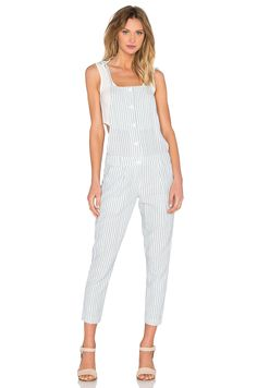 82a2800030ea Shop for Capulet Tie Up Overall in Railroad Stripe at REVOLVE.