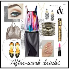 La French Cut Gold and Black Custom-made heels www. After Work Drinks, John Hardy, Too Faced Cosmetics, Stella Mccartney, Polyvore Fashion, Boards, Costume, French, Sandals