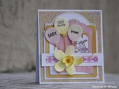 Handmade by Mihaela: Baby girl card
