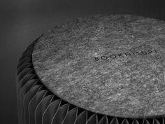 fan stool Bookniture: Multipurpose Furniture You Can Store on a Shelf A Shelf, Shelves, Modern Furniture, Furniture Design, Multipurpose Furniture, Restroom Design, Speaker Design, Space Saving Furniture, Simple Shapes
